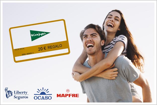Oferta seguros de Hogar - 20 euros gratis, tarjeta de El Corte Inglés